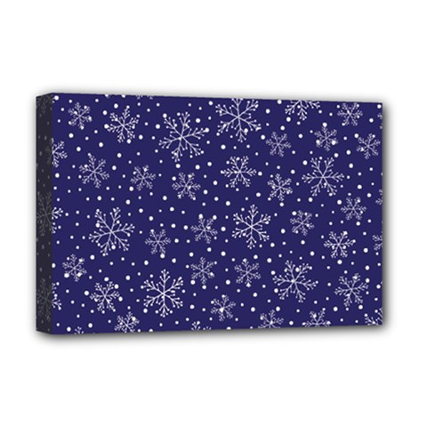 Snowflakes Pattern Deluxe Canvas 18  X 12   by Sapixe