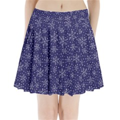 Snowflakes Pattern Pleated Mini Skirt by Sapixe