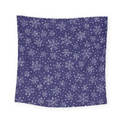 Snowflakes Pattern Square Tapestry (small) by Sapixe