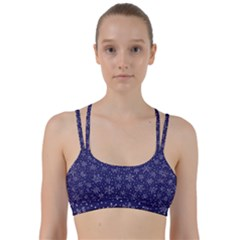 Snowflakes Pattern Line Them Up Sports Bra