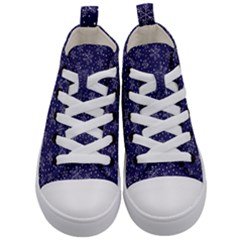 Snowflakes Pattern Kid s Mid Top Canvas Sneakers