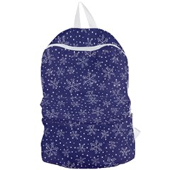 Snowflakes Pattern Foldable Lightweight Backpack