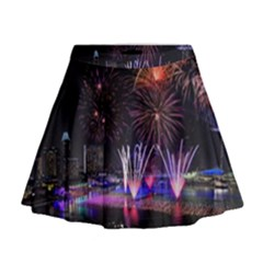 Singapore The Happy New Year Hotel Celebration Laser Light Fireworks Marina Bay Mini Flare Skirt