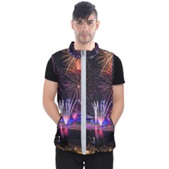 Singapore The Happy New Year Hotel Celebration Laser Light Fireworks Marina Bay Men s Puffer Vest