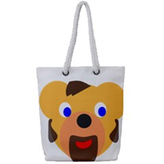 Solidarity Clipart Bear Head Teddy Bear Xmas Christmas Stuffed Animal Full Print Rope Handle Tote (small)
