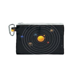 Solar System Canvas Cosmetic Bag (small)
