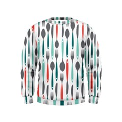 Spoon Fork Knife Pattern Kids  Sweatshirt by Sapixe