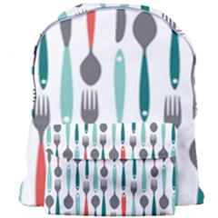 Spoon Fork Knife Pattern Giant Full Print Backpack by Sapixe