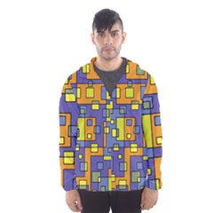 Square Background Background Texture Hooded Wind Breaker (men)