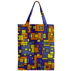 Square Background Background Texture Zipper Classic Tote Bag by Sapixe