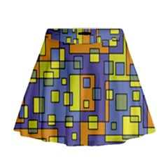 Square Background Background Texture Mini Flare Skirt by Sapixe