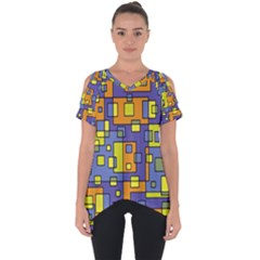 Square Background Background Texture Cut Out Side Drop Tee by Sapixe
