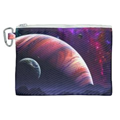 Space Art Nebula Canvas Cosmetic Bag (xl)