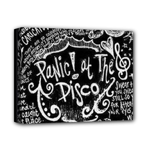 Panic! At The Disco Lyric Quotes Deluxe Canvas 14  X 11  by Samandel