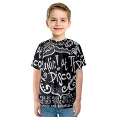 Panic! At The Disco Lyric Quotes Kids  Sport Mesh Tee by Samandel
