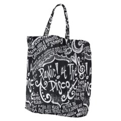 Panic! At The Disco Lyric Quotes Giant Grocery Zipper Tote by Samandel