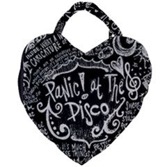 Panic! At The Disco Lyric Quotes Giant Heart Shaped Tote by Samandel