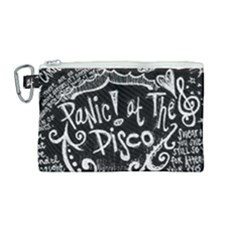 Panic! At The Disco Lyric Quotes Canvas Cosmetic Bag (medium) by Samandel