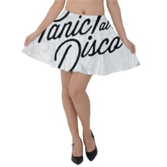 Panic At The Disco Flowers Velvet Skater Skirt