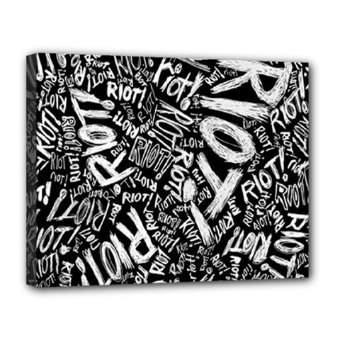 Panic At The Disco Lyric Quotes Retina Ready Canvas 14  X 11  by Samandel