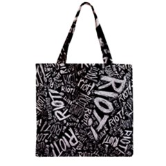 Panic At The Disco Lyric Quotes Retina Ready Zipper Grocery Tote Bag by Samandel