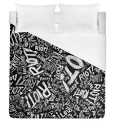 Panic At The Disco Lyric Quotes Retina Ready Duvet Cover (queen Size) by Samandel