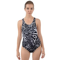 Panic At The Disco Lyric Quotes Retina Ready Cut Out Back One Piece Swimsuit