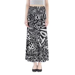 Panic At The Disco Lyric Quotes Retina Ready Full Length Maxi Skirt by Samandel
