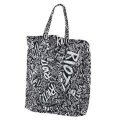 Panic At The Disco Lyric Quotes Retina Ready Giant Grocery Zipper Tote by Samandel