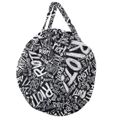 Panic At The Disco Lyric Quotes Retina Ready Giant Round Zipper Tote by Samandel