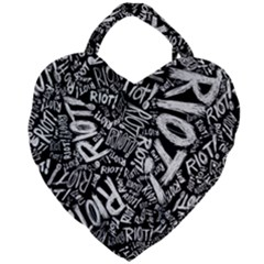 Panic At The Disco Lyric Quotes Retina Ready Giant Heart Shaped Tote by Samandel