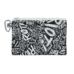 Panic At The Disco Lyric Quotes Retina Ready Canvas Cosmetic Bag (large) by Samandel