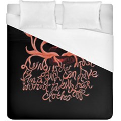 Panic At The Disco   Lying Is The Most Fun A Girl Have Without Taking Her Clothes Duvet Cover (king Size) by Samandel