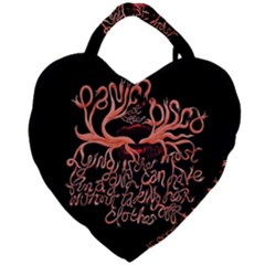 Panic At The Disco   Lying Is The Most Fun A Girl Have Without Taking Her Clothes Giant Heart Shaped Tote by Samandel