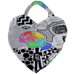 Panic ! At The Disco Giant Heart Shaped Tote by Samandel