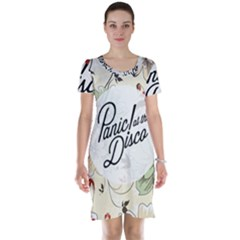 Panic At The Disco Beautifull Floral Short Sleeve Nightdress by Samandel