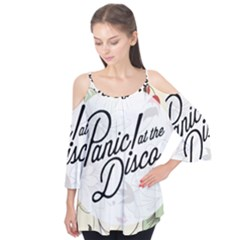 Panic At The Disco Beautifull Floral Flutter Tees by Samandel