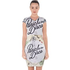 Panic At The Disco Beautifull Floral Capsleeve Drawstring Dress