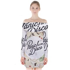 Panic At The Disco Beautifull Floral Long Sleeve Off Shoulder Dress by Samandel
