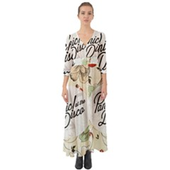 Panic At The Disco Beautifull Floral Button Up Boho Maxi Dress by Samandel