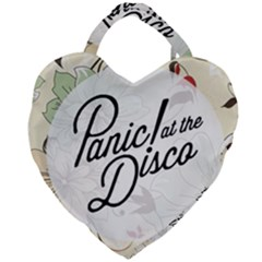 Panic At The Disco Beautifull Floral Giant Heart Shaped Tote by Samandel
