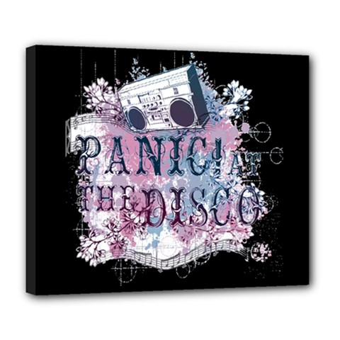 Panic At The Disco Art Deluxe Canvas 24  X 20   by Samandel