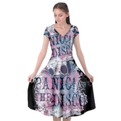 Panic At The Disco Art Cap Sleeve Wrap Front Dress by Samandel
