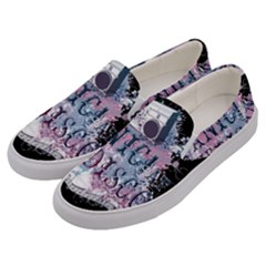 Panic At The Disco Art Men s Canvas Slip Ons by Samandel