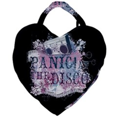 Panic At The Disco Art Giant Heart Shaped Tote by Samandel