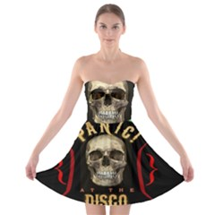 Panic At The Disco Poster Strapless Bra Top Dress