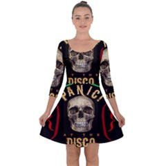 Panic At The Disco Poster Quarter Sleeve Skater Dress by Samandel