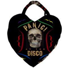 Panic At The Disco Poster Giant Heart Shaped Tote by Samandel