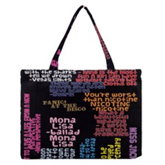 Panic At The Disco Northern Downpour Lyrics Metrolyrics Zipper Medium Tote Bag by Samandel