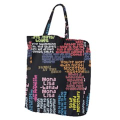 Panic At The Disco Northern Downpour Lyrics Metrolyrics Giant Grocery Zipper Tote by Samandel